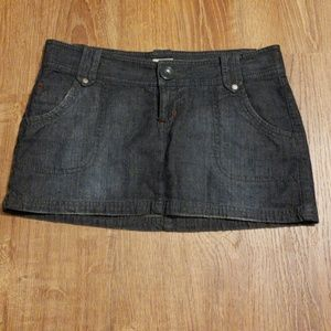 Mossino Jean Skirt Size 5 Charcoal